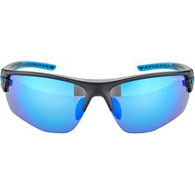 Alpina Tri-Scray 2.0 HR Glasses black matt-cyan/blue mirror